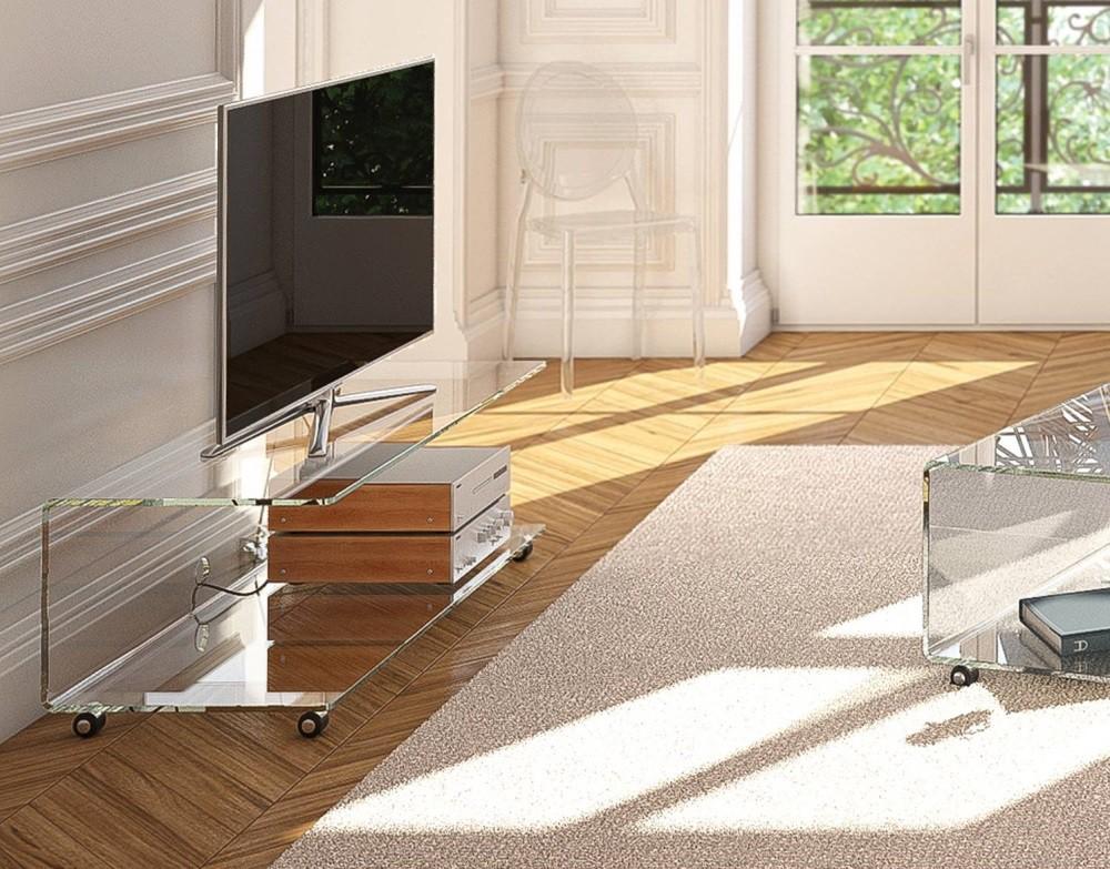 Glazen Televisie Tafel.Glazen Tv Meubel Vidre Glastoepassingen