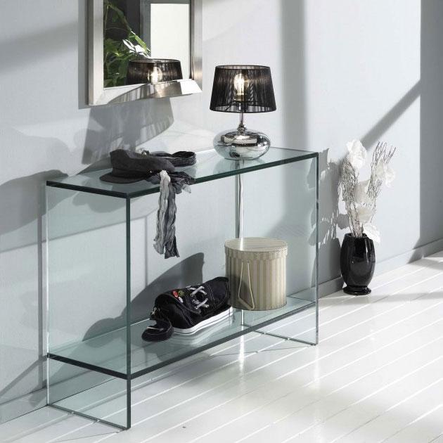 Design Glazen Sidetable.Glazen Side Table Vidre Glastoepassingen