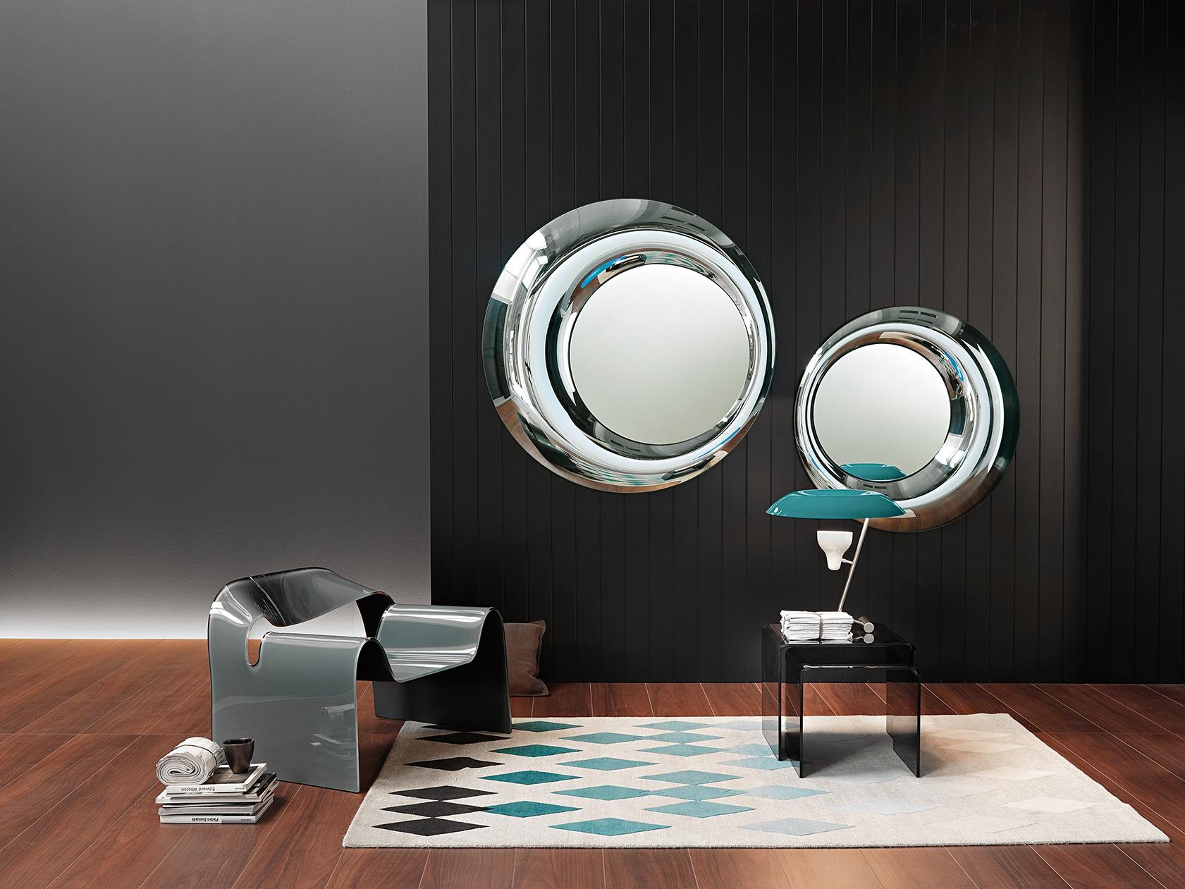 FIAM design spiegel Rosy D100 en D130 rond design by Doriana E Massimiliano Fuksas