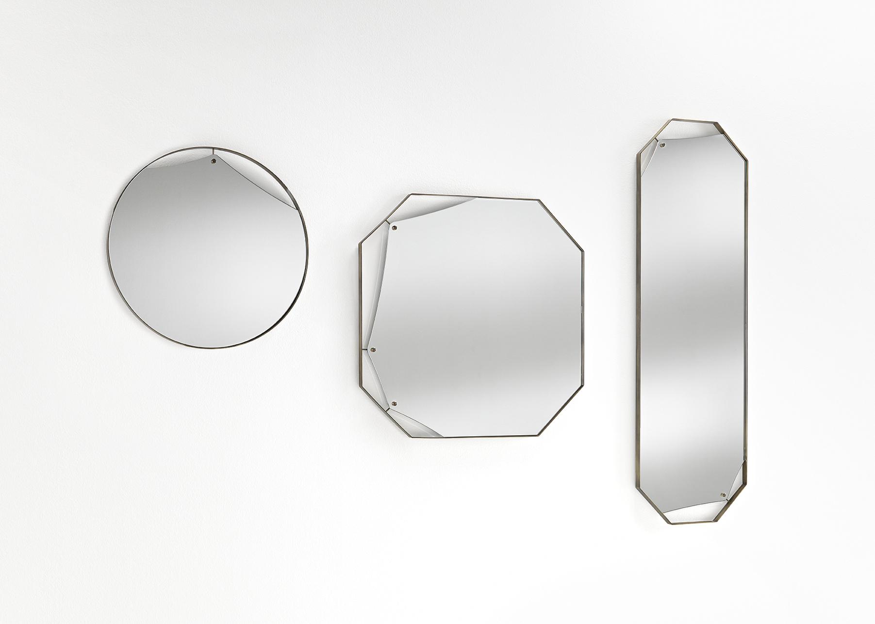 FIAM glazen design spiegel Pinch design by Lanzavecchia en Wai