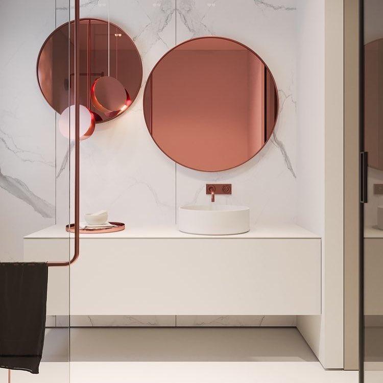 rose spiegels vidre glas leiden